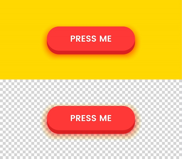 Press me button Premium Vector