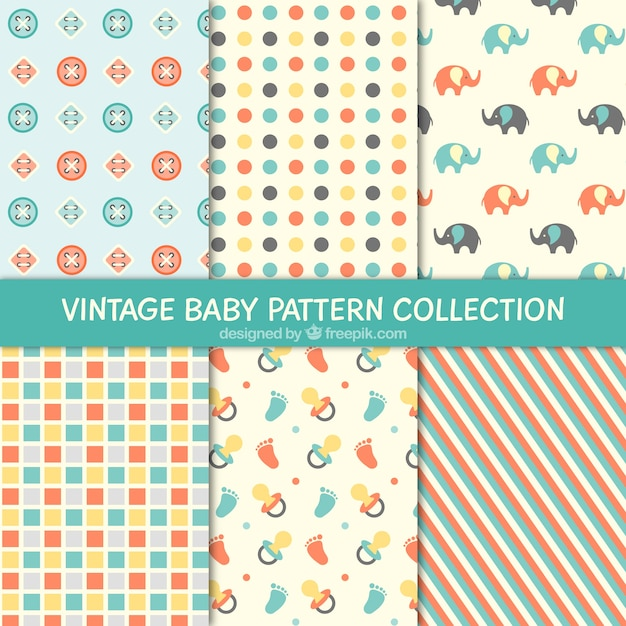 Pretty And Decorative Baby Patterns Vector Free Download Simple Baby Patterns