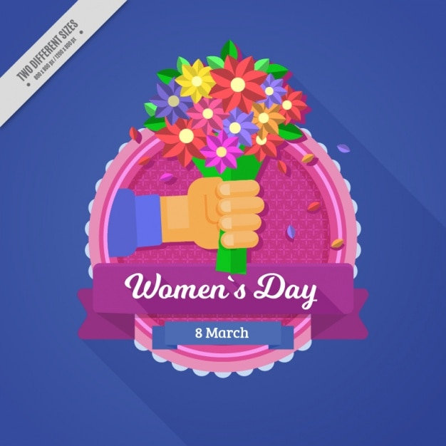 Pretty background with bouquet of flowers for\ the women\'s day