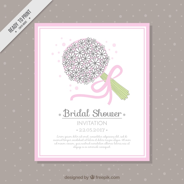 Pretty bridal bouquet flower bouquet\ card