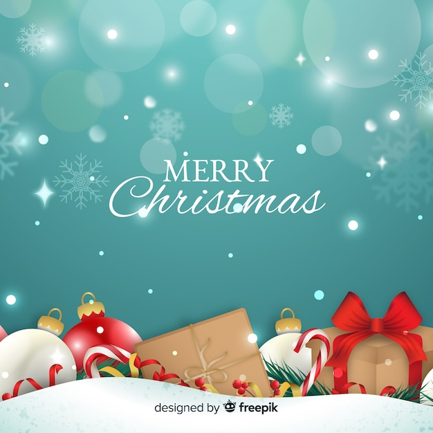 Pretty christmas background Vector | Free Download