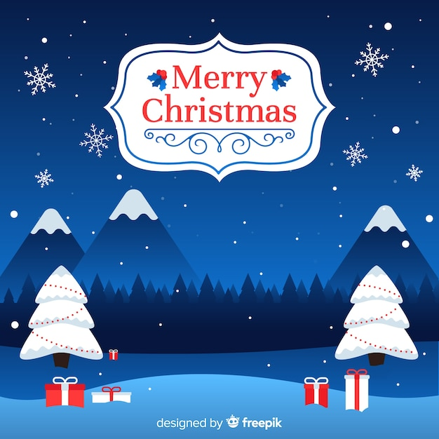 pretty christmas background free vector