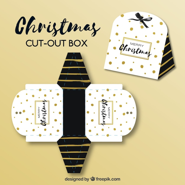 Pretty christmas cut-out Premium Vector