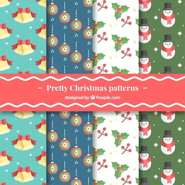 Pretty christmas patterns collection