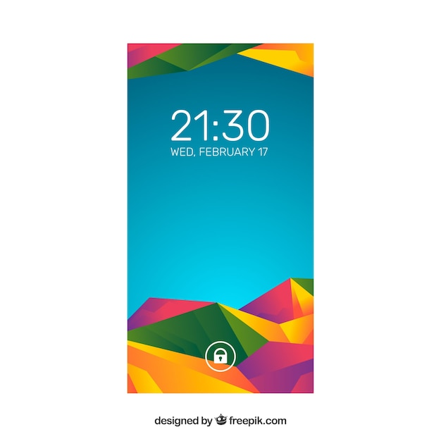 Pretty modern colorful abstract wallpaper of mobile