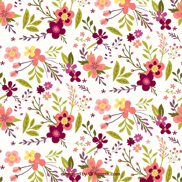Pretty vintage floral pattern Vector | Free Download