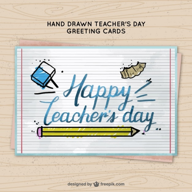 Pretty watercolor greeting card teachers day vector free download pretty watercolor greeting card teachers day free vector m4hsunfo