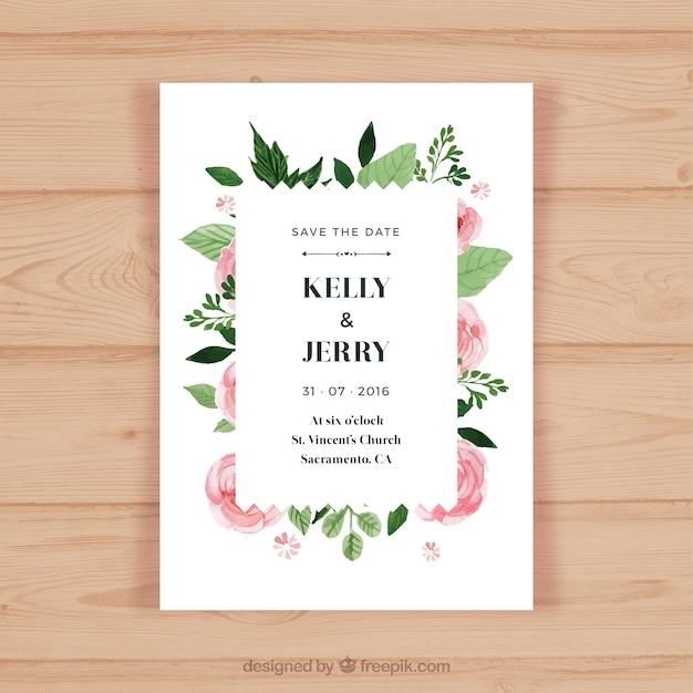 Pretty wedding invitation with pink flowers vector free download pretty wedding invitation with pink flowers free vector stopboris Gallery