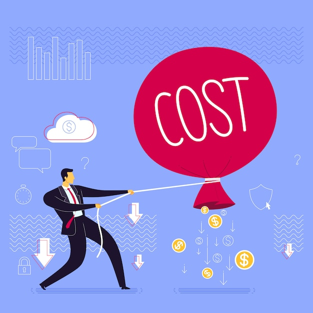 Prevent business loss strategy Premium Vector