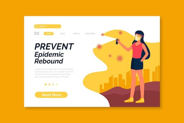 流行のリバウンドを防ぐ-ランディングページ 無料ベクター