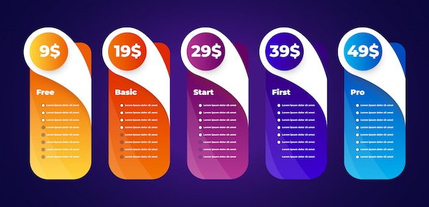 価格表ベクトル Premiumベクター
