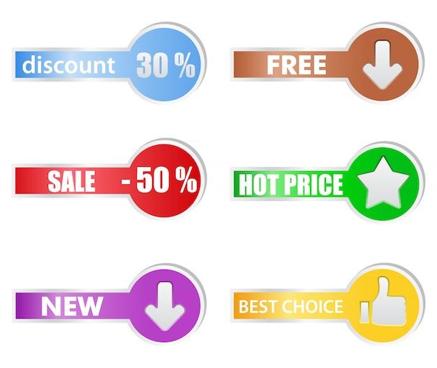 Ценники Premium векторы
