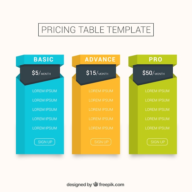 table templates free download