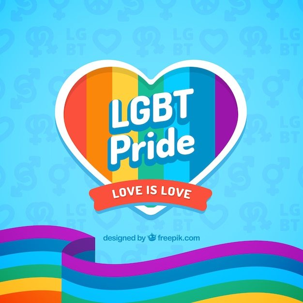 Pride day celebration background Free Vector