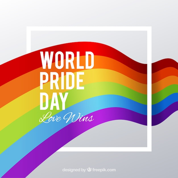 Pride day celebration background Free Vector