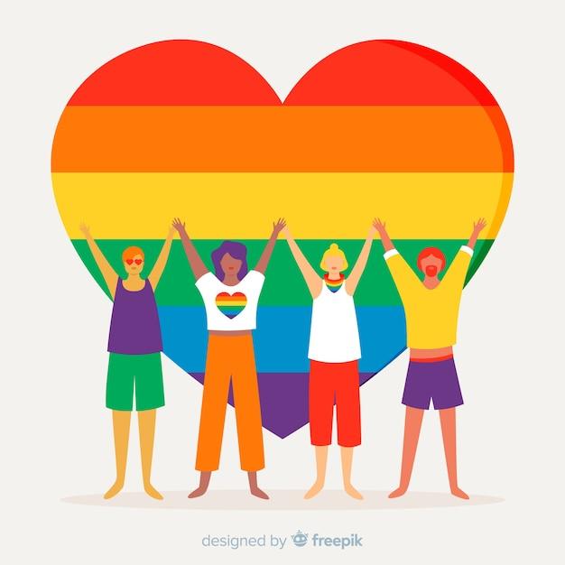 Pride day concept Free Vector