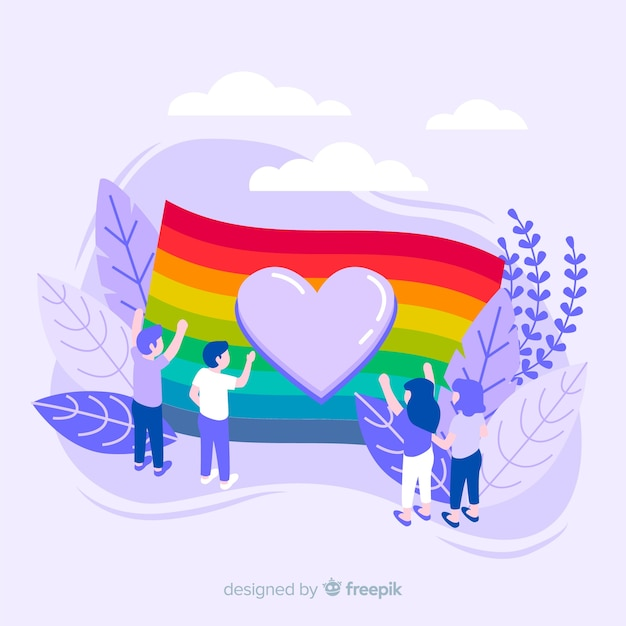 Pride day fag Free Vector