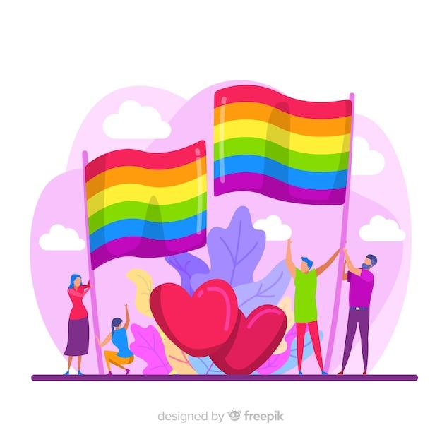 Pride day fag Free Vector