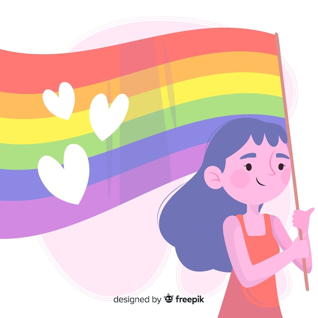 Pride day flag background Free Vector