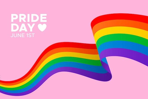 Pride day flag concept Premium Vector