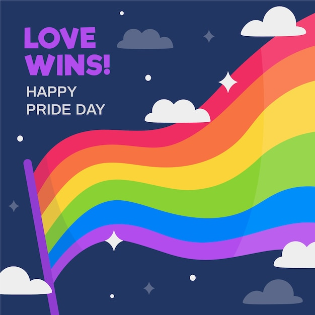 Pride day flag concept Free Vector