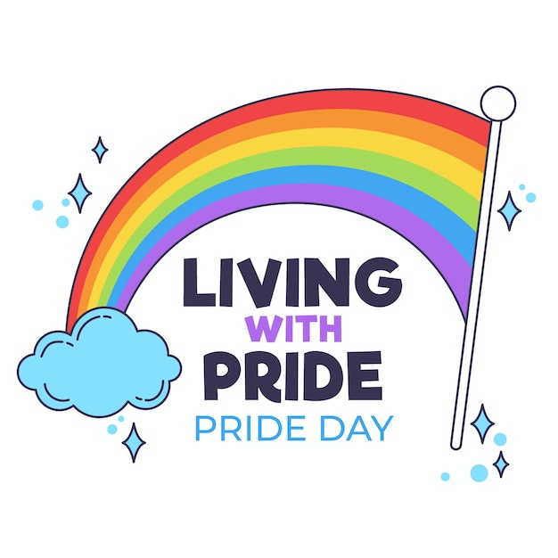 Pride day flag Free Vector