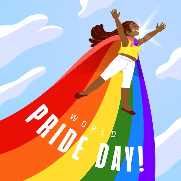 Pride day illustration of flag Free Vector