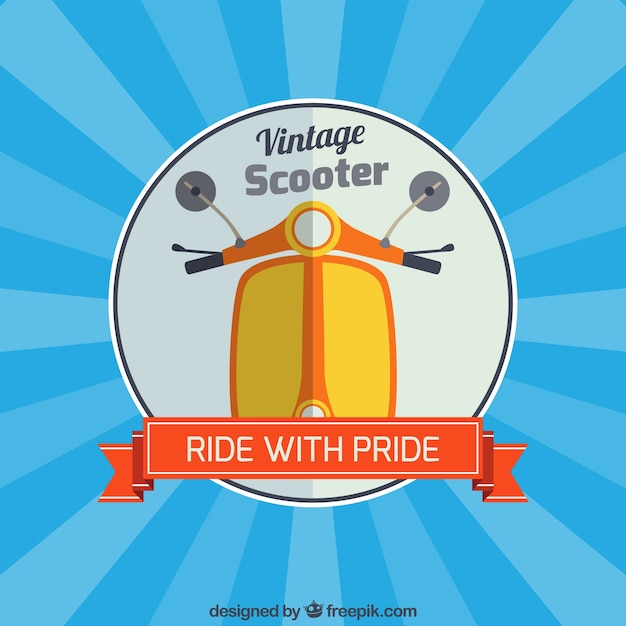 Pride scooter Free Vector