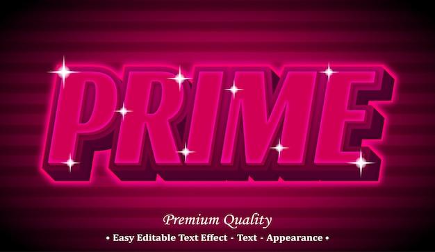 Prime  editable text style effect Premium Vector