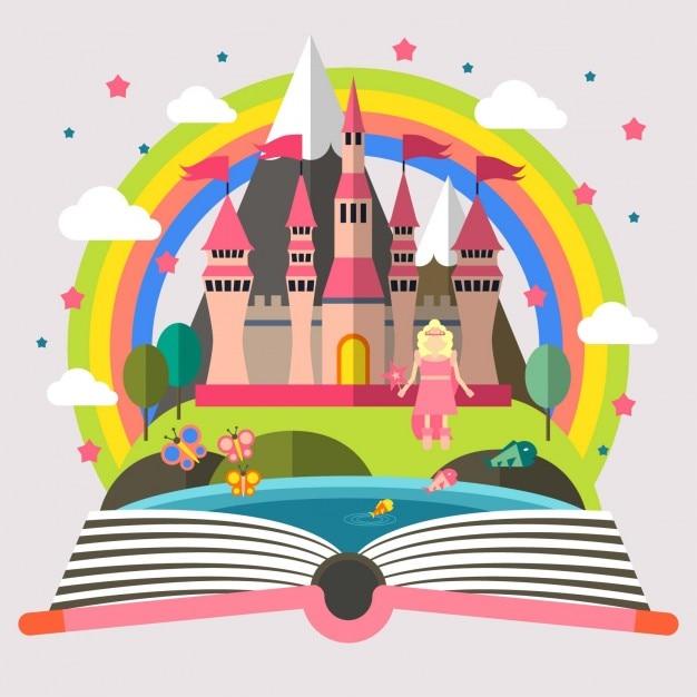 Princess and Castle Illustration