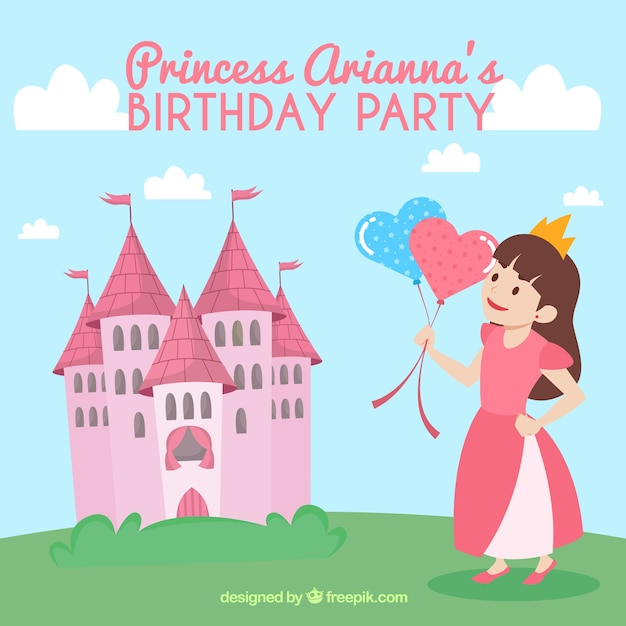 Princess birthday invitation vector free download princess birthday invitation free vector stopboris Choice Image