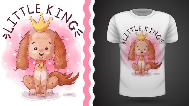 Идея принцессы для футболки с принтом Premium векторы