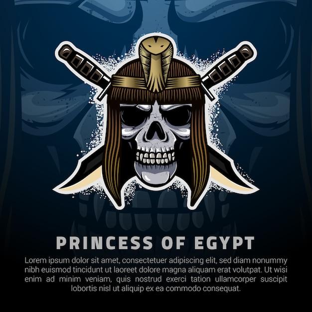 Иллюстрация принцессы египта Premium векторы