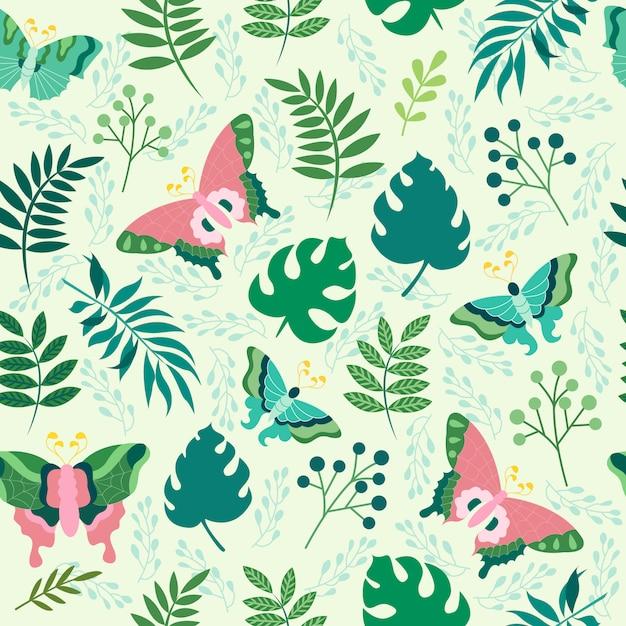 Print butterfly seamless pattern vector design illustration Premium Vector