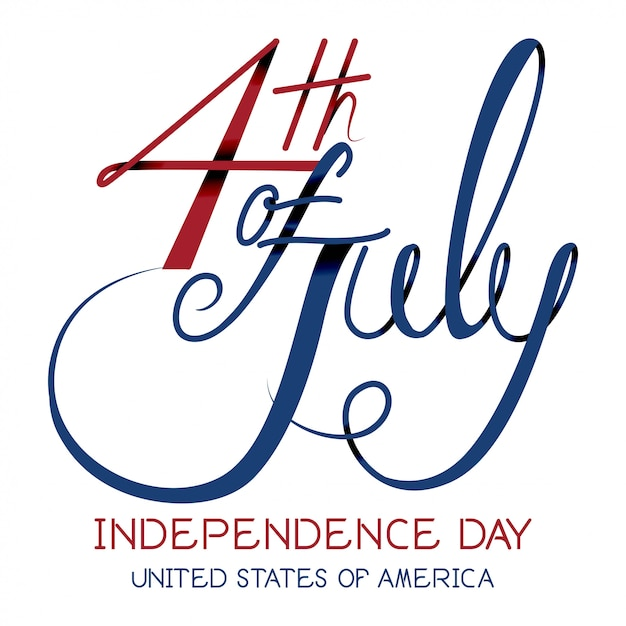 Print4th july independence day vector. Premium Vector