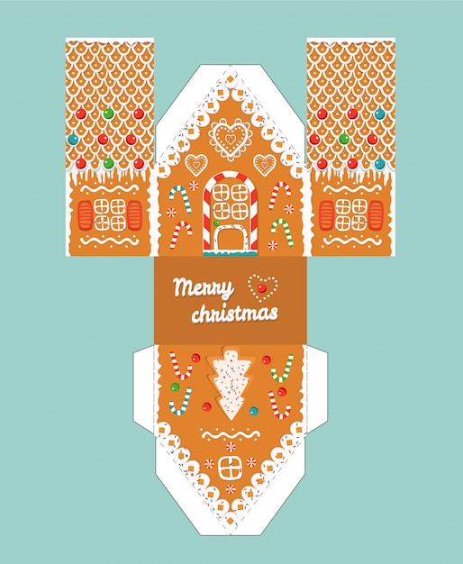 It is a graphic of Gingerbread House Patterns Free Printable throughout clay house