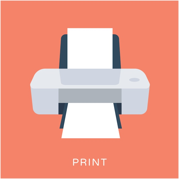 premium vector printer flat vector icon https www freepik com profile preagreement getstarted 1775283