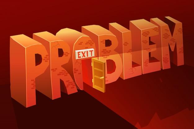 Problem exit illustration Free Vector