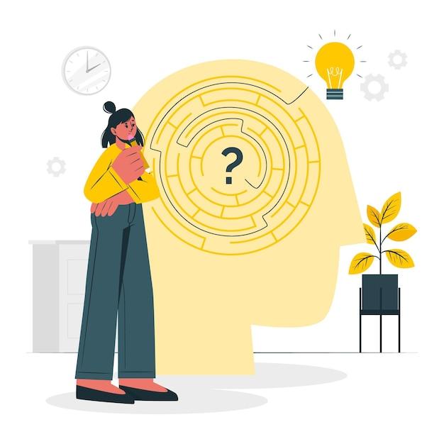 Иллюстрация концепции решения проблем Бесплатные векторы