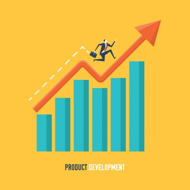 Product development background Free Vector