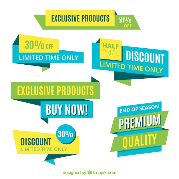 Product discount banners Free Vector