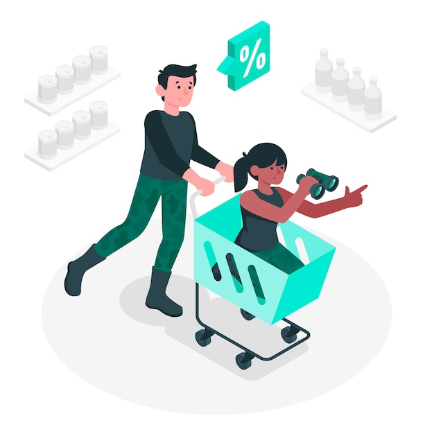 Product hunt concept illustration Free Vector
