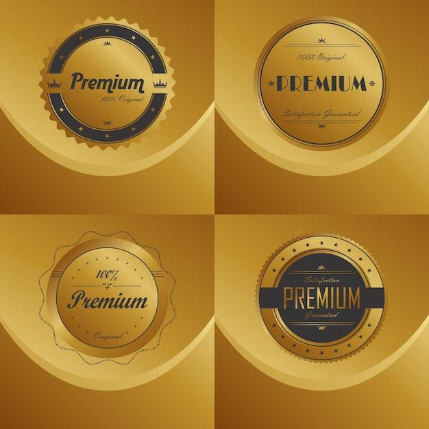 Product label sticker Premium Vector