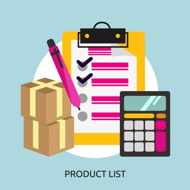Product list background Free Vector