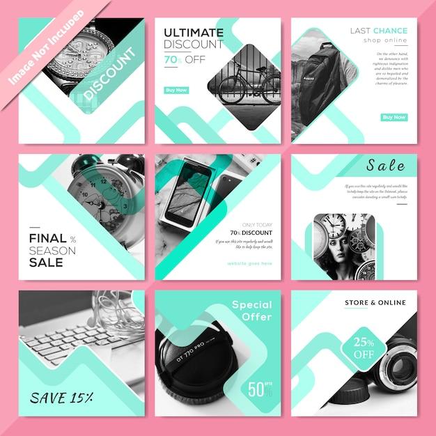 Product sale social media post template Premium Vector