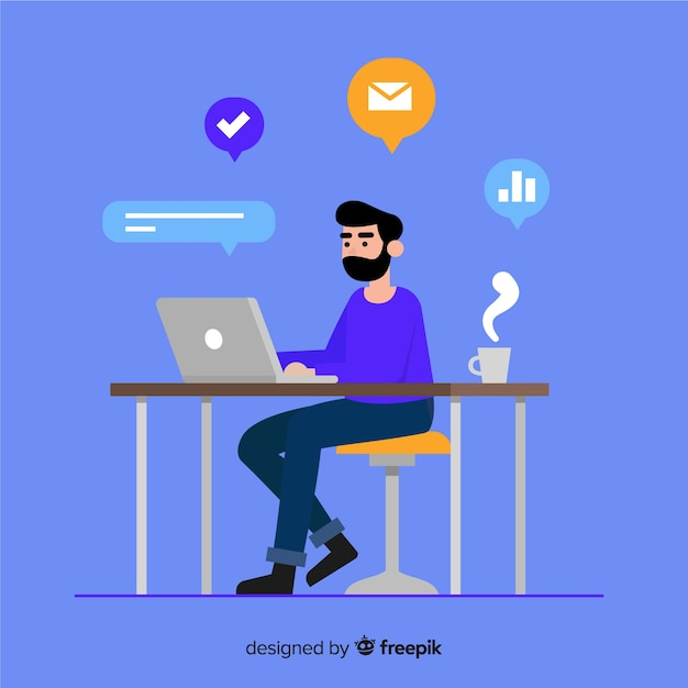 Productivity concept background Free Vector