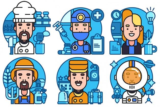 Profession avatar vector Premium Vector