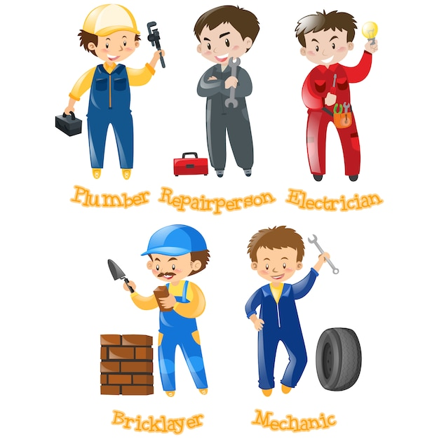 Profession designs collection Free Vector