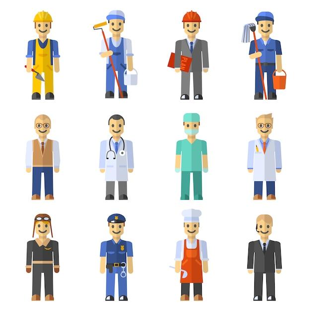 Profession people set Free Vector