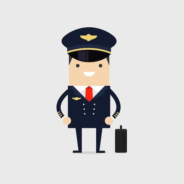 Profession pilot of aircraft. Premium Vector